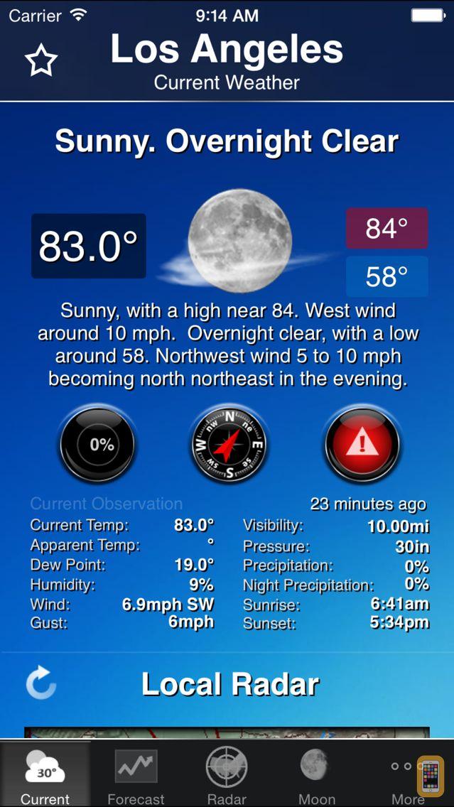 Screenshot - NOAA Weather and Radar