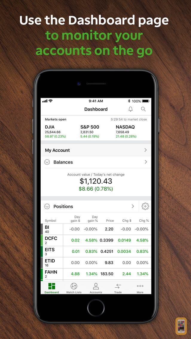 Screenshot - TD Ameritrade Mobile