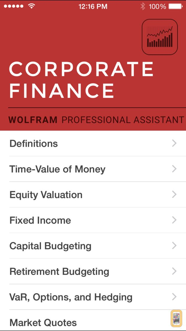 Screenshot - Wolfram Corporate Finance Professional Assistant
