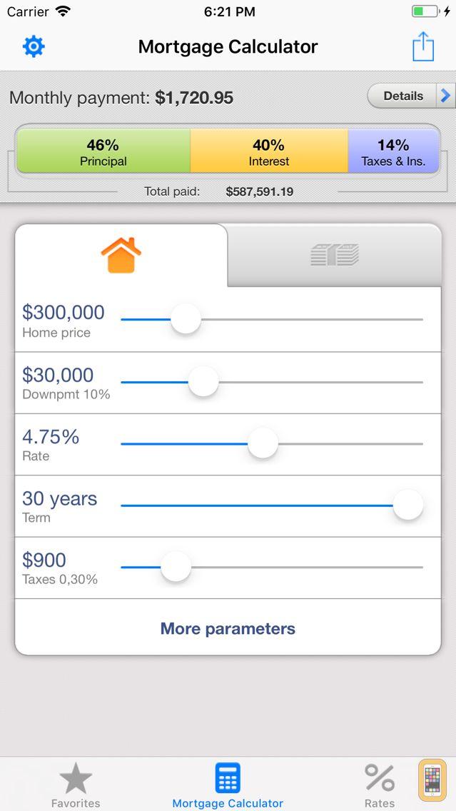 Screenshot - Mortgage Calculator for iPhone