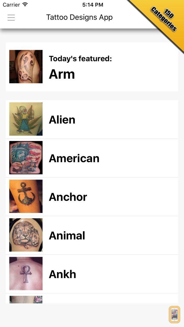 Screenshot - Tattoo Designs Pro
