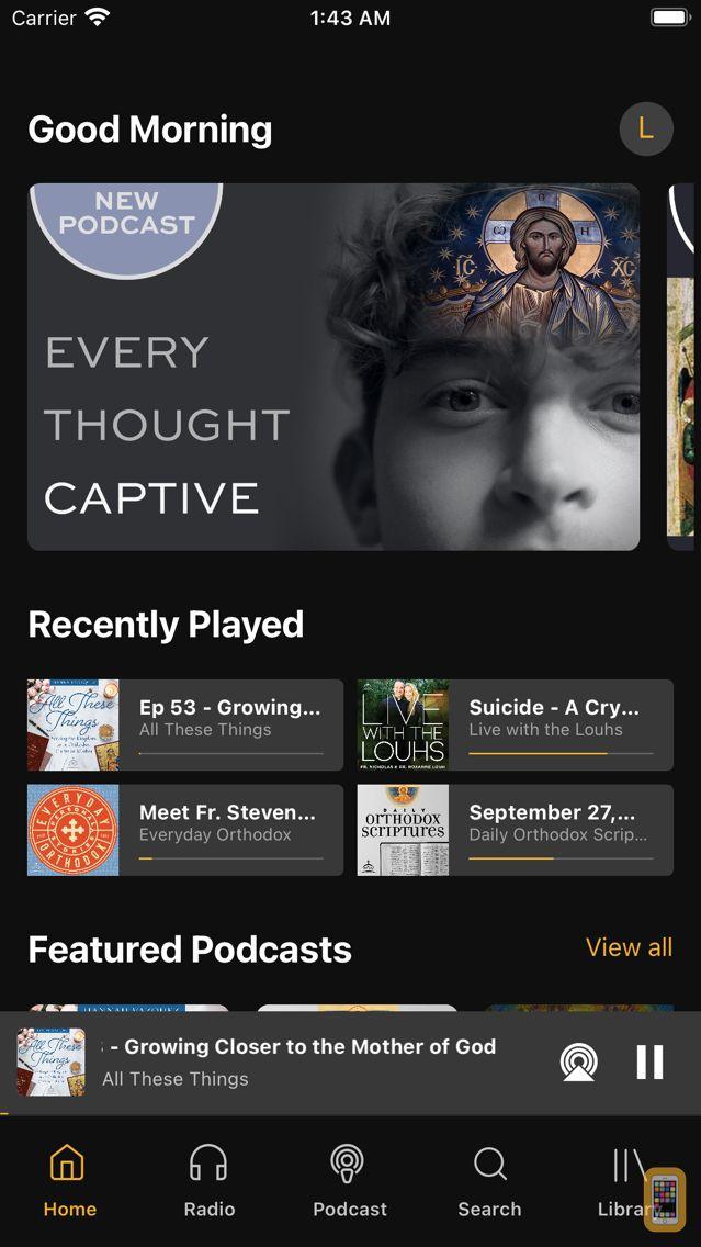 Screenshot - Ancient Faith Radio App