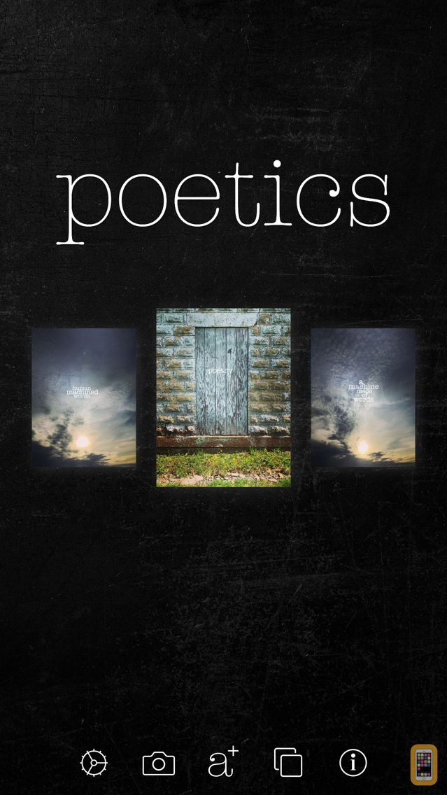 Screenshot - Poetics - create, write and share visual poetry