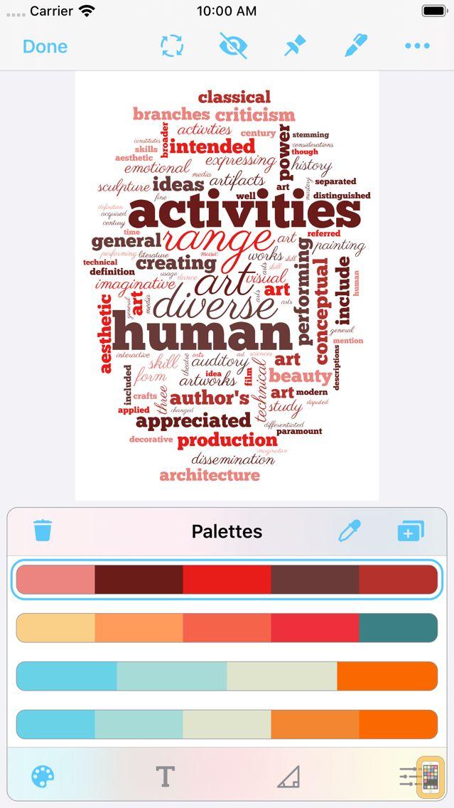 Screenshot - Wordsalad - Smart Word Clouds