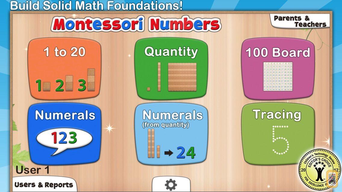 Screenshot - Montessori Numbers for Kids