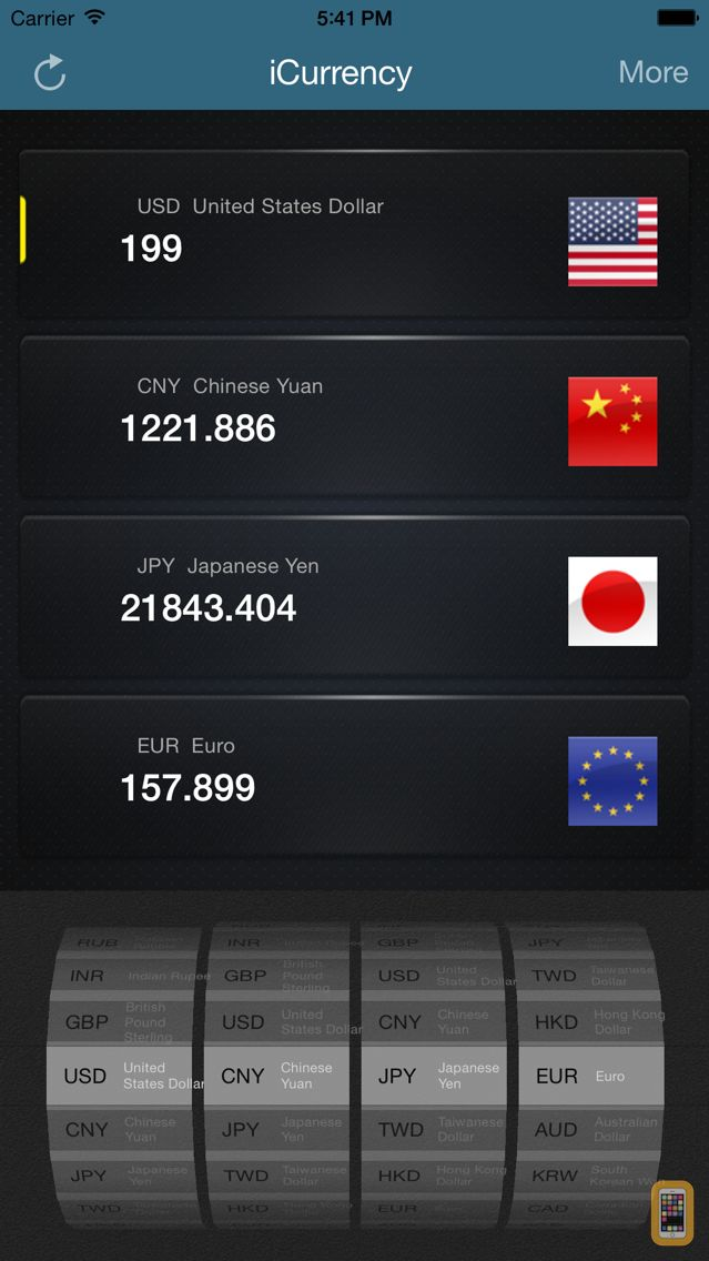 Screenshot - iCurrency Pro - Currency Exchange Rates and Converter
