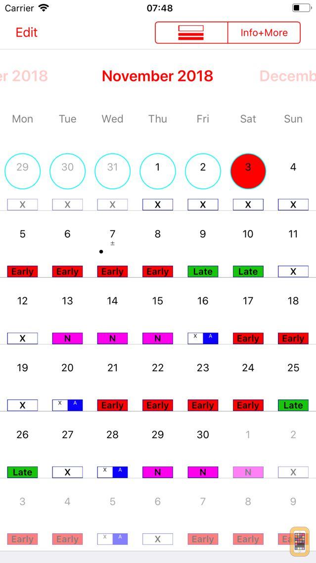 Screenshot - Roster-Calendar Pro