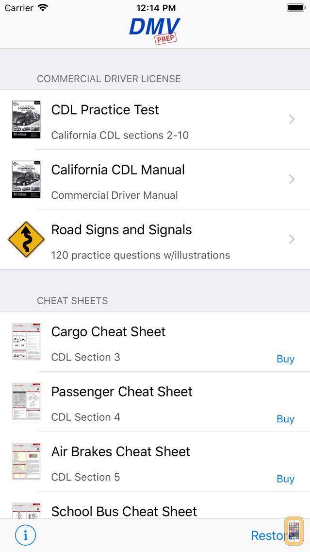 Screenshot - California CDL Test Prep