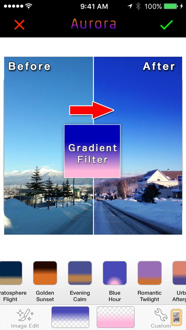 Screenshot - Aurora by FANG - Fast Gradient Image Editor