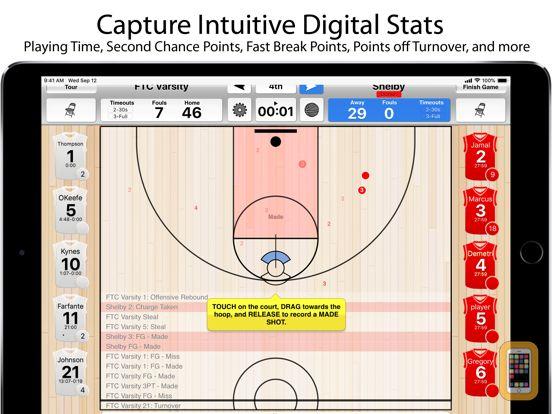 Screenshot - Basketball Stat Tracker HD