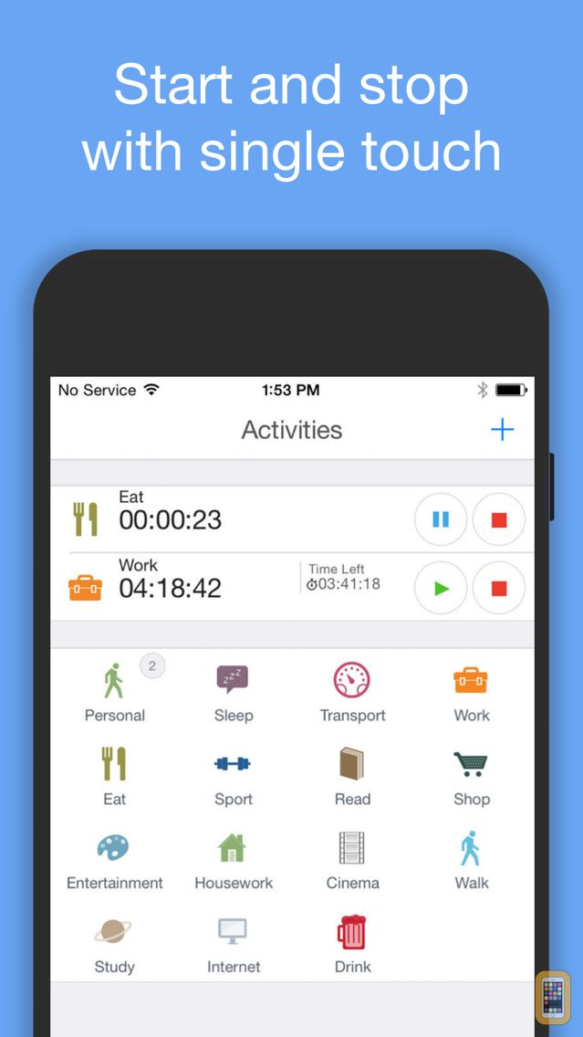 Screenshot - aTimeLogger Personal Tracker