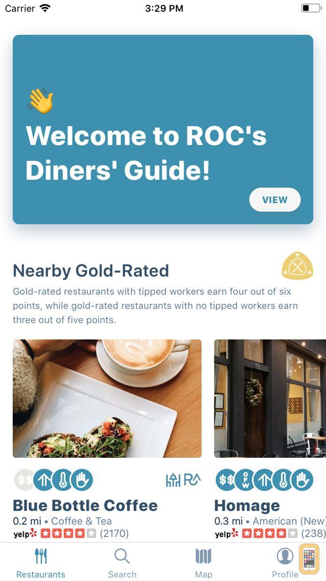 Screenshot - ROC National Diners' Guide