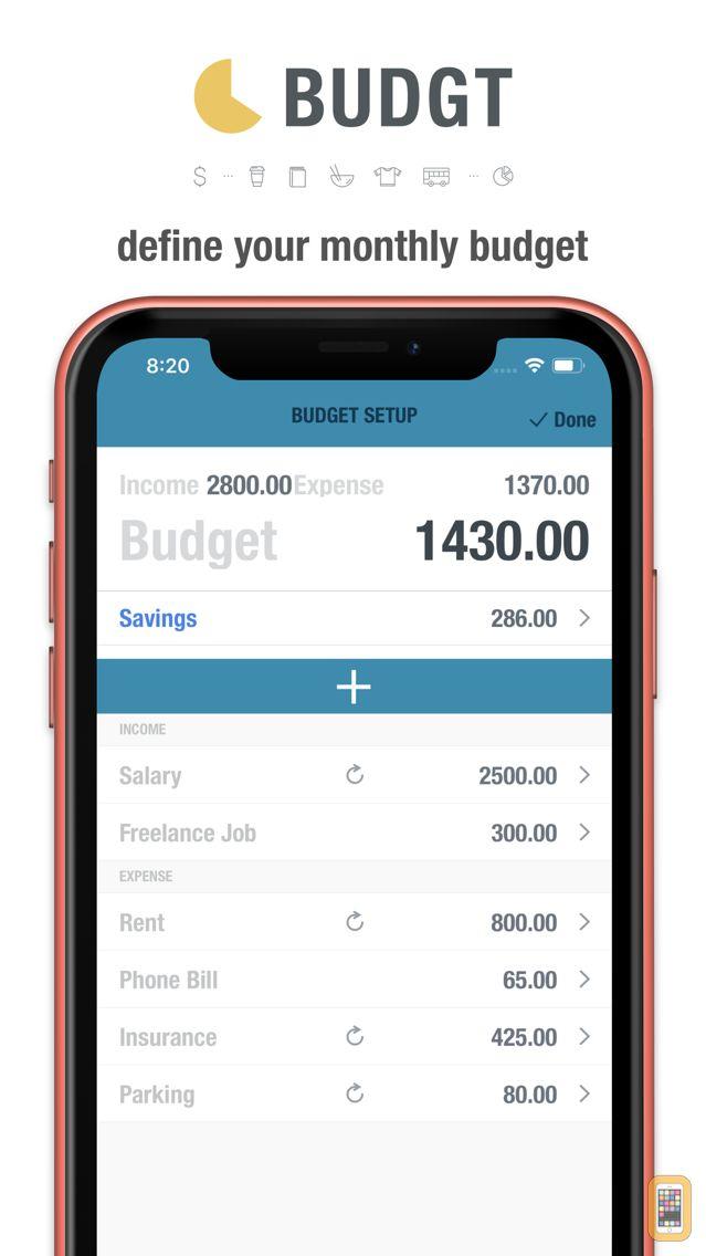 Screenshot - BUDGT - Daily Finance
