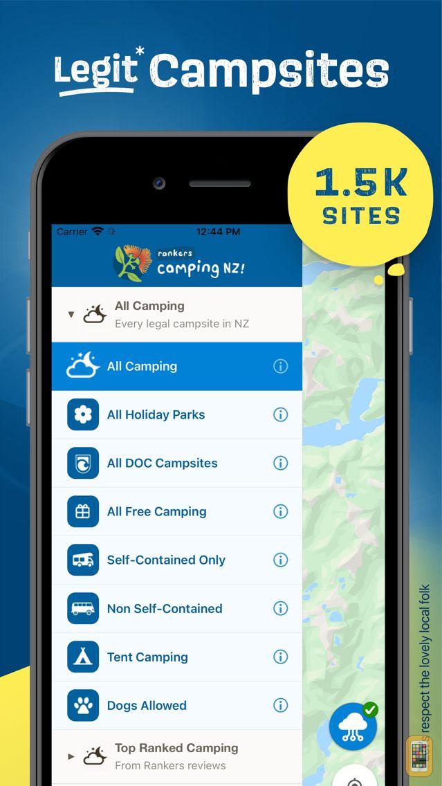 Screenshot - Rankers Camping NZ