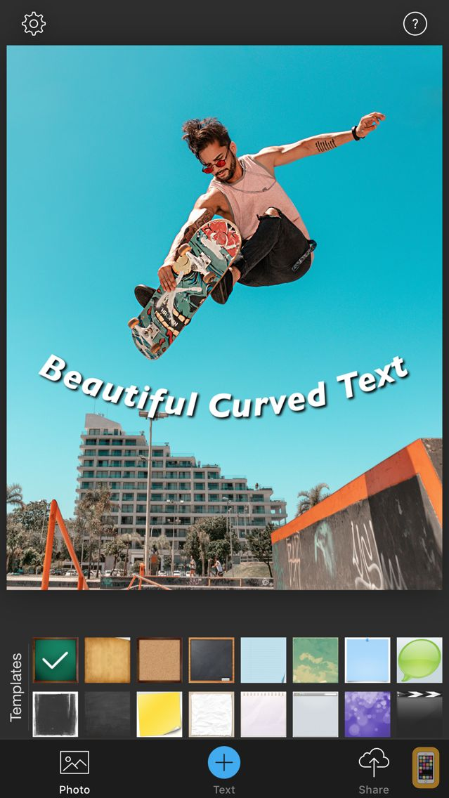 Screenshot - Curved Text