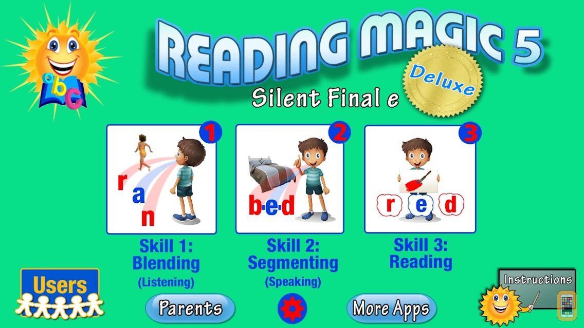 Screenshot - READING MAGIC 5 Deluxe-Silent Final e Words