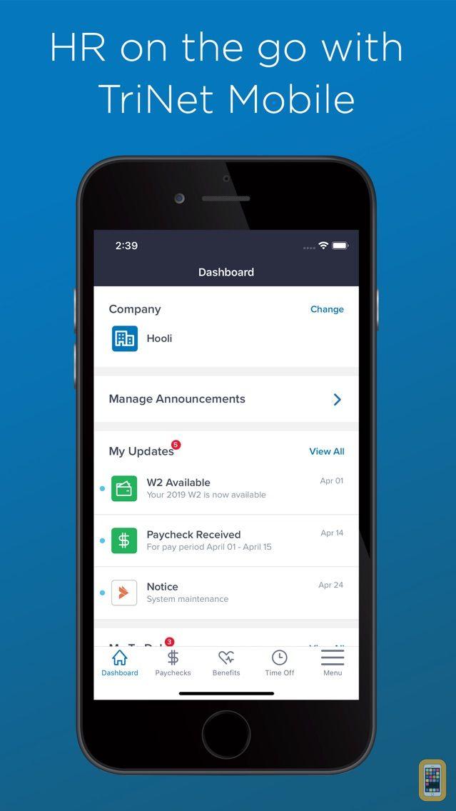 Screenshot - TriNet Mobile