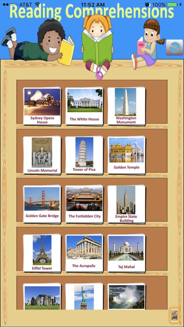 Screenshot - Super Reader - Landmarks