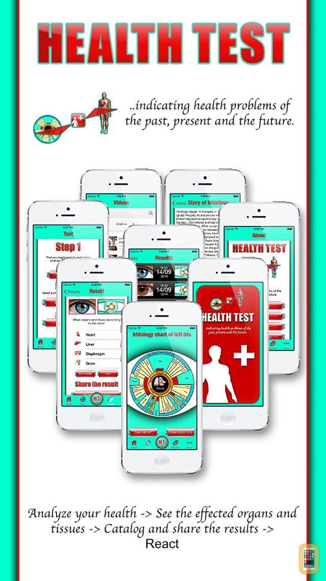 Screenshot - Health Test - The iridology app