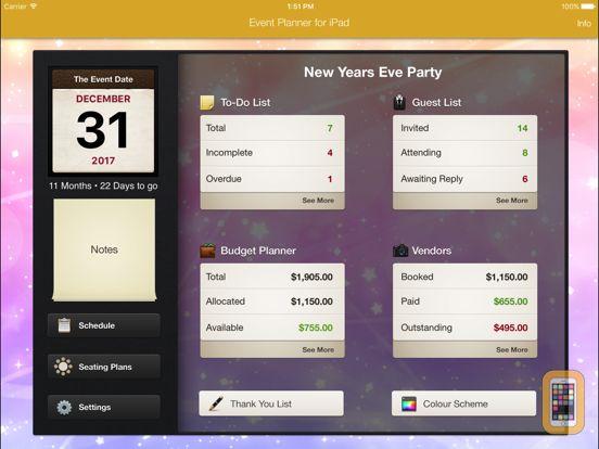 Screenshot - Event Planner for iPad