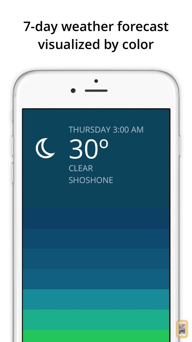 Screenshot - Blue - weather forecast
