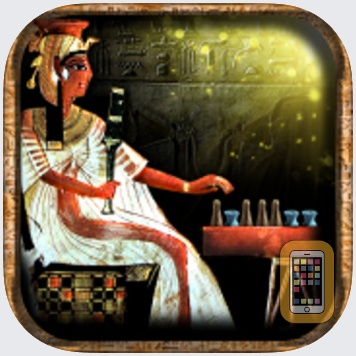 Egyptian Senet (Ancient Egypt Game) The Mysterious Soul Journey. Queen Nefertari playing match against an invisible adversary inside her tomb as a way of achieving rebirth and joining the gods in the  by Mohammed Ezzat (Universal)
