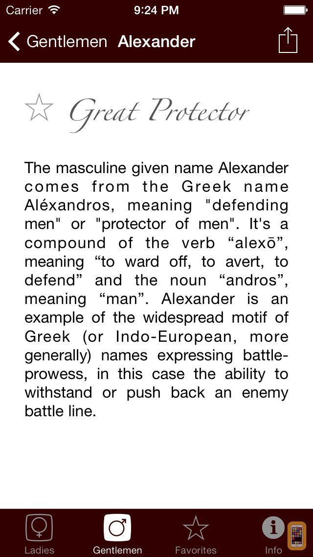 Screenshot - Namer - The Origin of Names
