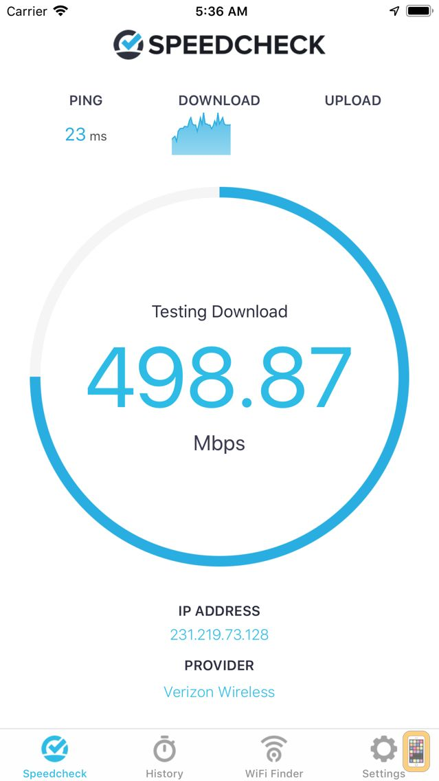 Screenshot - Speedcheck Internet Speed Test