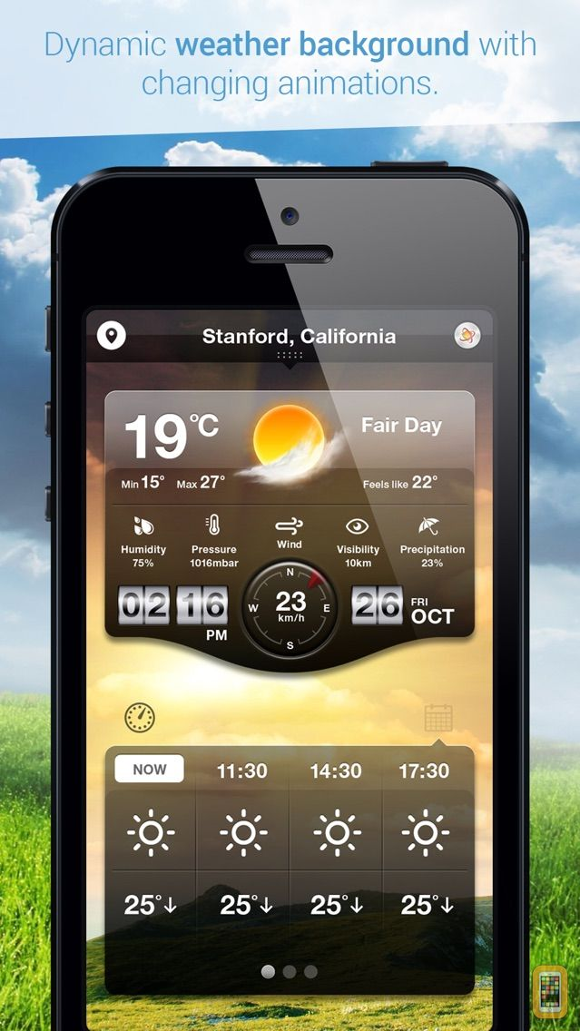 Screenshot - Weather Cast HD : Live World Weather Forecasts & Reports with World Clock for iPad & iPhone
