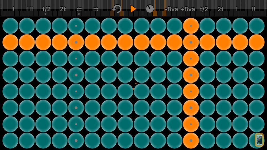 Screenshot - Arpeggionome for iPhone   matrix arpeggiator