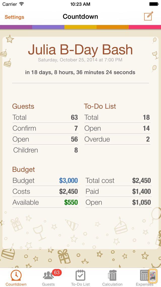 Screenshot - Birthday & Party Planner