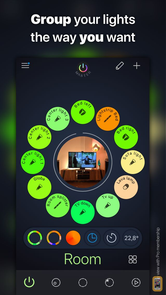 Screenshot - iConnectHue for Philips Hue