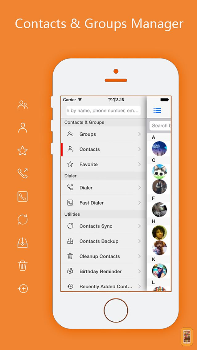 Screenshot - aContacts - All-in-One Contact & Group Manager