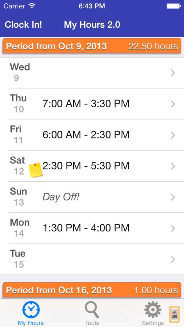 Screenshot - My Hours 2.0
