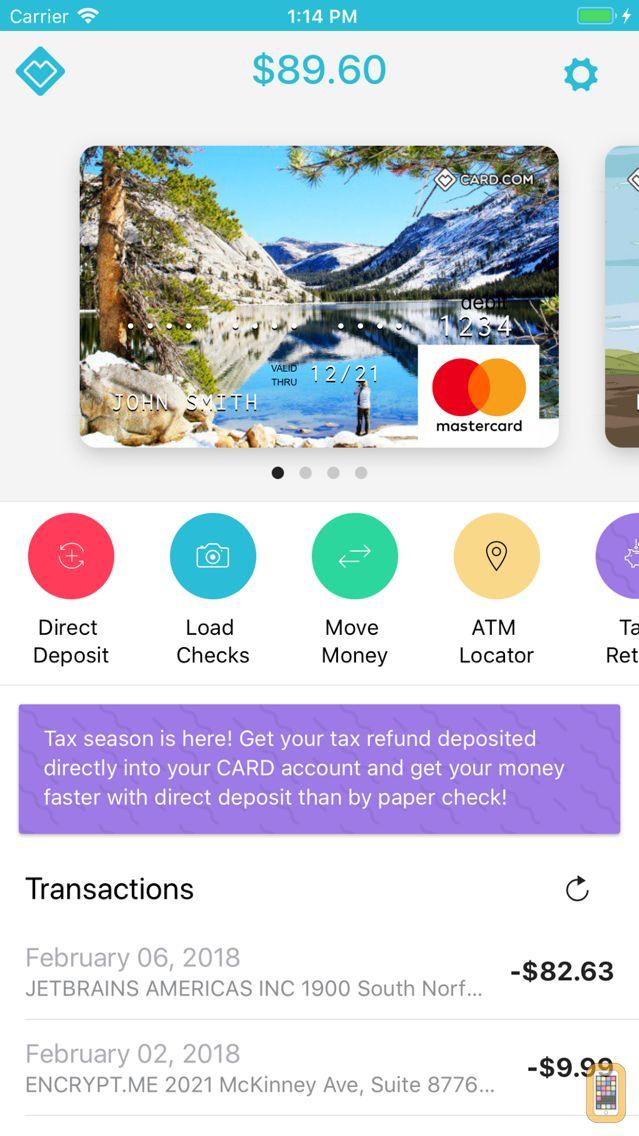 Screenshot - CARD.com Mobile