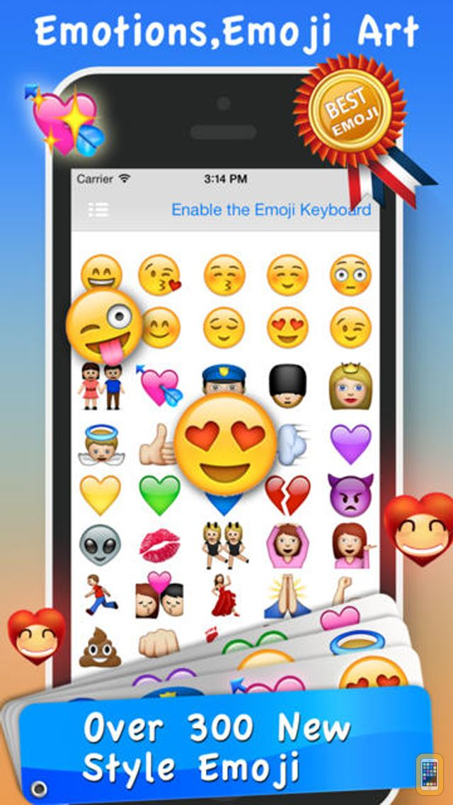 Screenshot - Emoji Emoticons & Animated 3D Smileys PRO - SMS,MMS Faces Stickers for WhatsApp