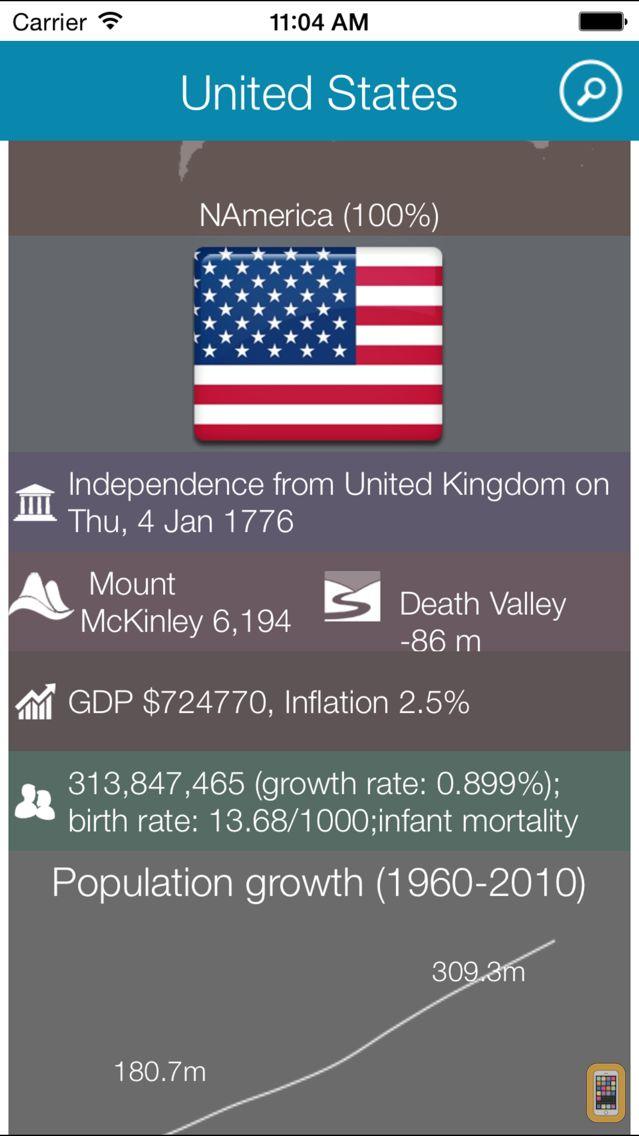 Screenshot - World Factbook HD