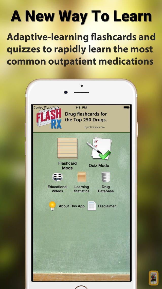 Screenshot - FlashRX - Top 250 Drugs