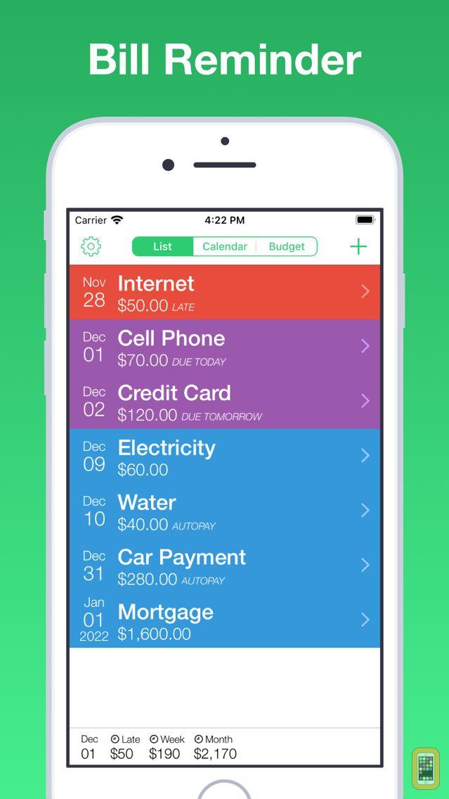Screenshot - Jitto - bill reminder & budget manager