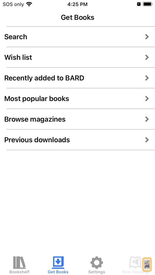 Screenshot - BARD Mobile