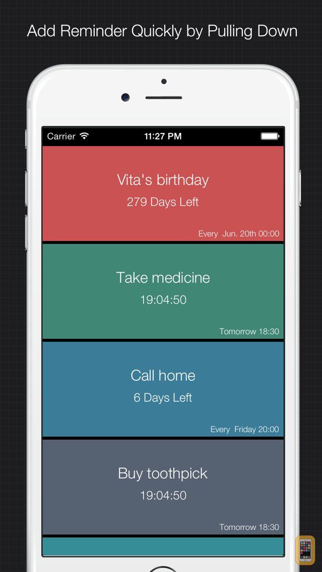 Screenshot - XReminder - simple & quick reminder to set alarm for important things