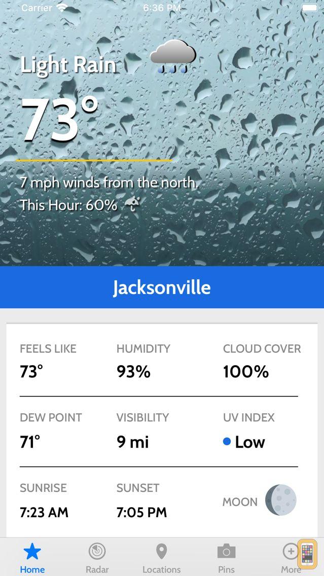 Screenshot - News4Jax Weather Authority