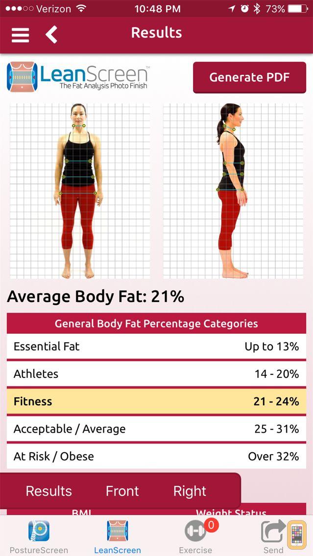 Screenshot - LeanScreen: Body Fat Analysis