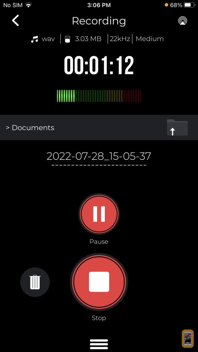Screenshot - Recorder App: Voice Recorder