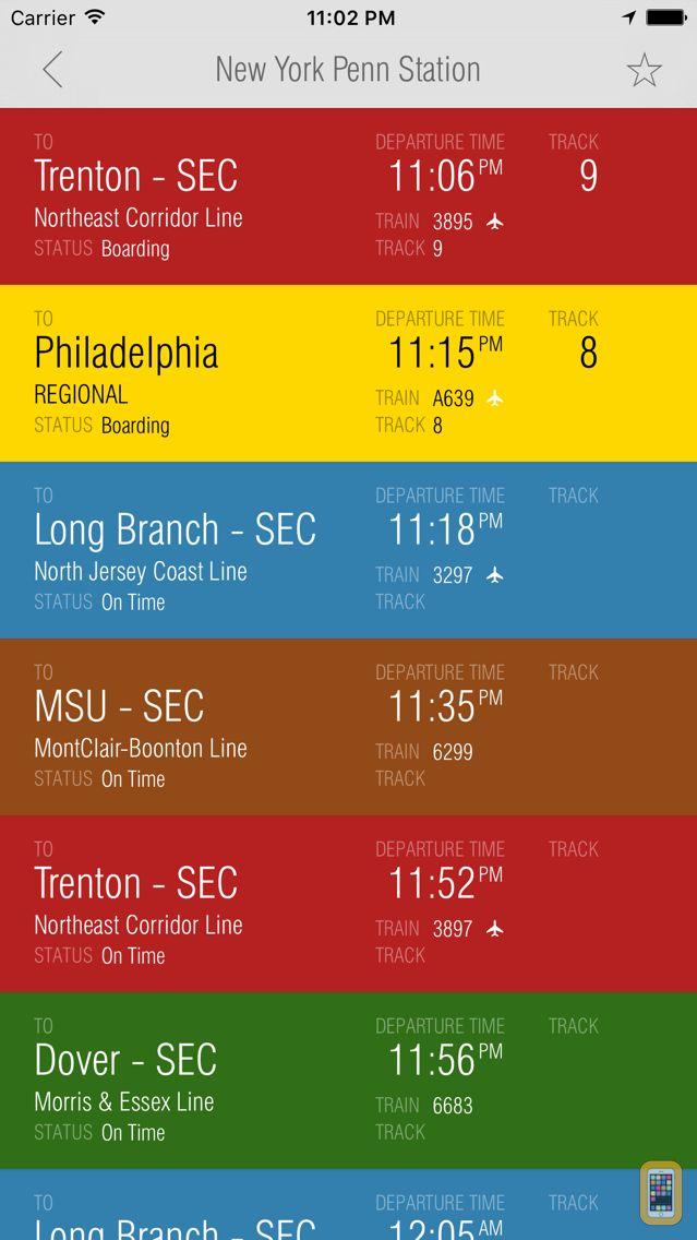 Screenshot - New Jersey Rail - Departures