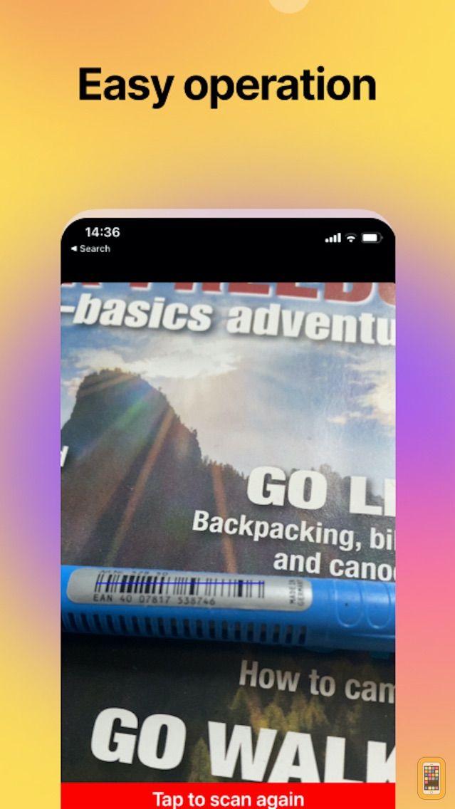 Screenshot - EAN13 BarcodeScan