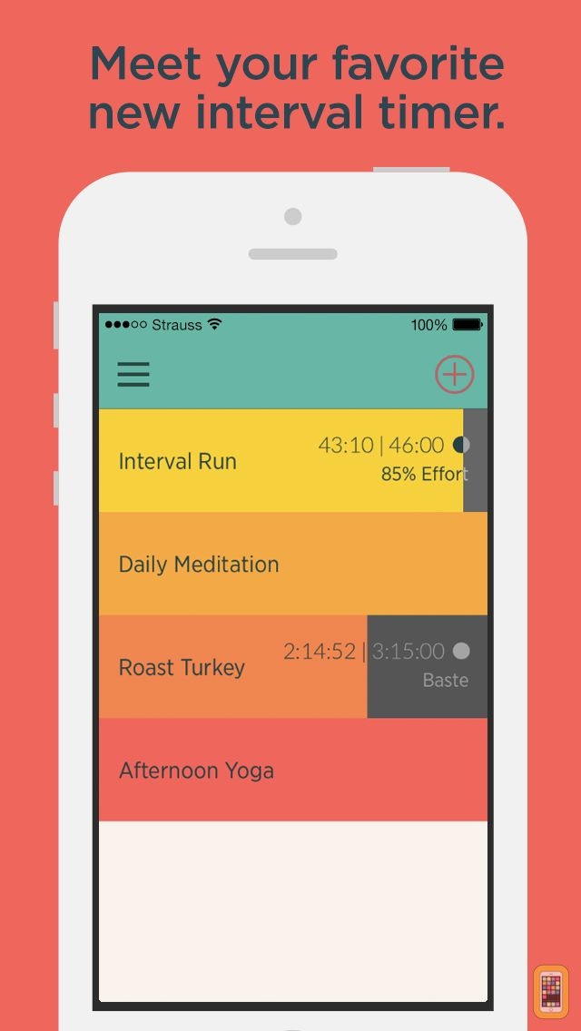 Screenshot - Timerlist - An Interval Timer for Yoga, Running, Cooking, Meditation, Workouts, Training, Practice Tests, and Much More