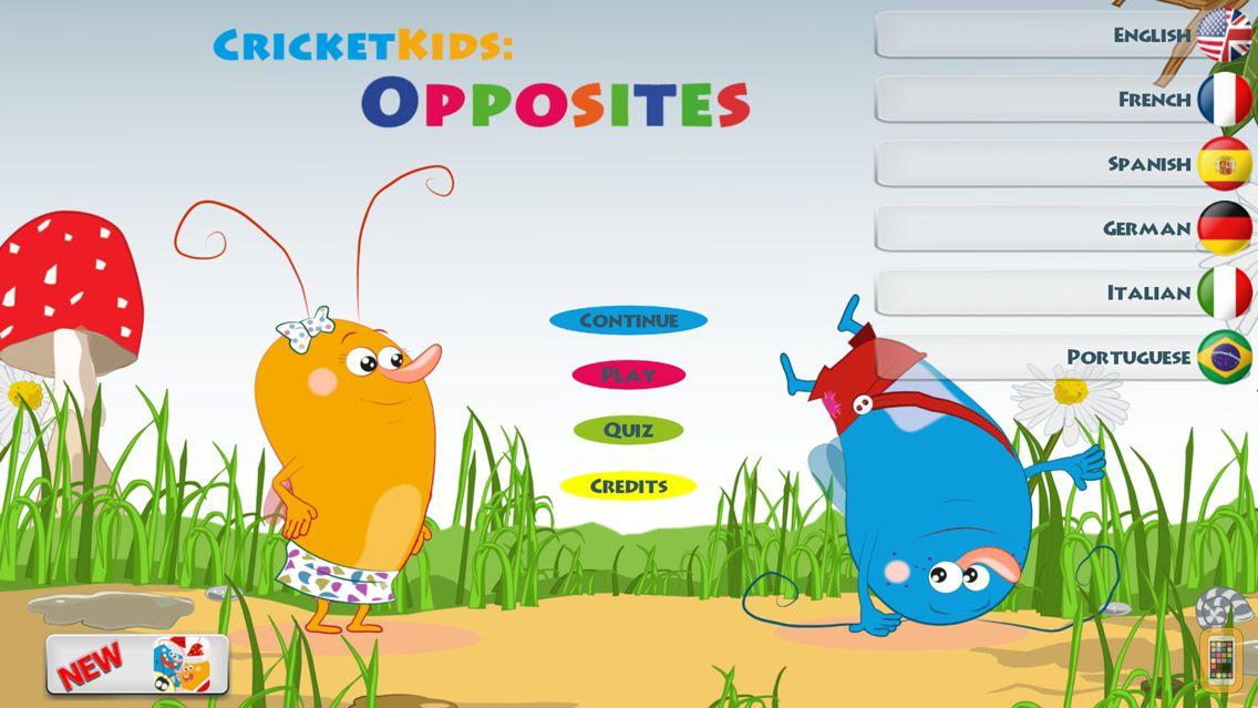 Screenshot - Cricket Kids: Opposites