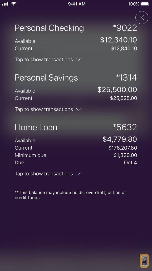 Screenshot - Member One FCU Mobile