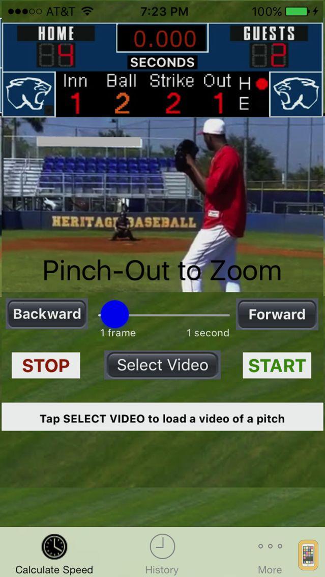 Screenshot - RadarGun-Baseball Pitch Speed